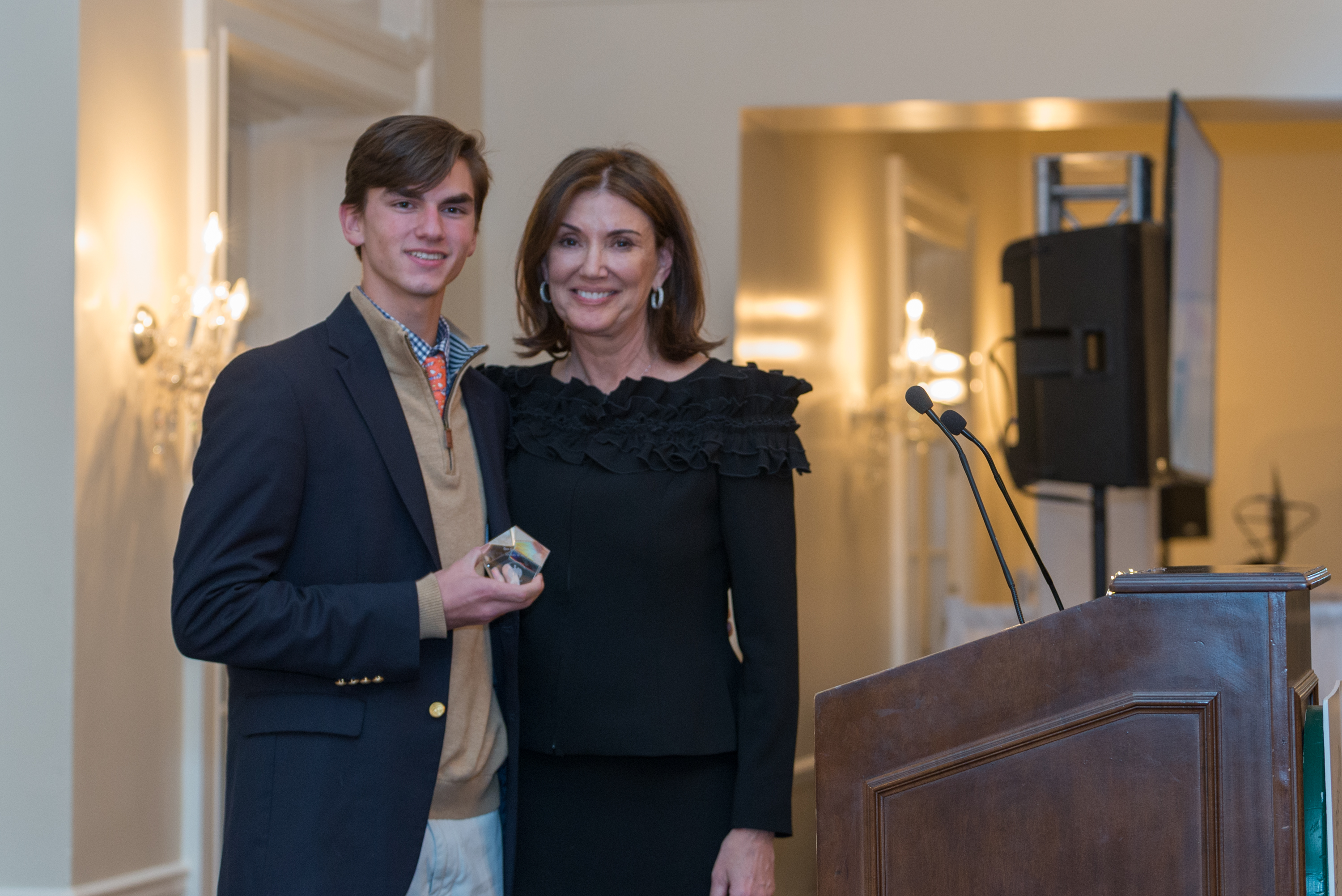 Sebastian Cobb, Brunswick School, Youth Service Award, presented by Ann Heekin