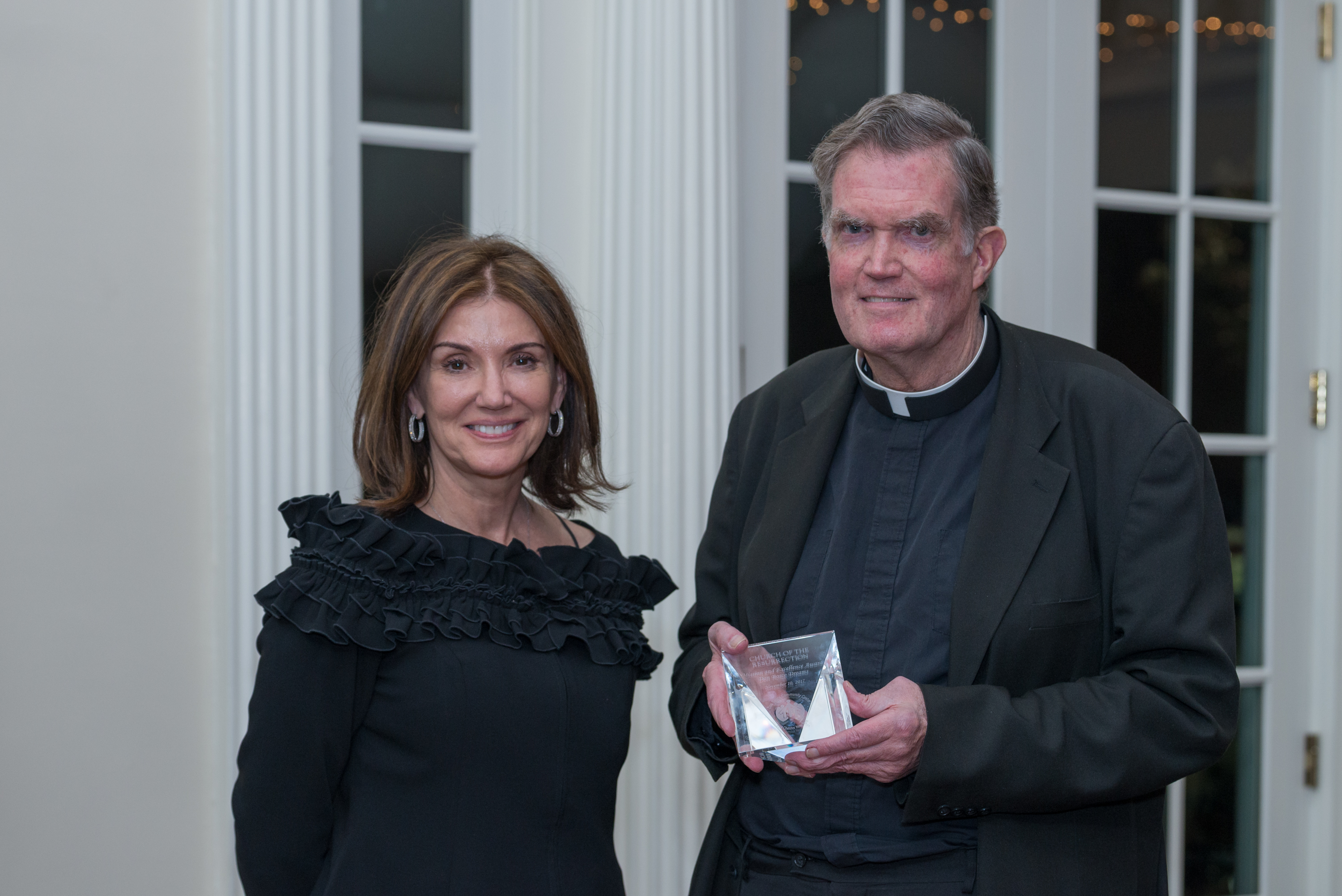 Msgr. Donald Dwyer, Pastor, Resurrection Church, Rye, NY, Mission and Excellence Award, presented by Ann Heekin