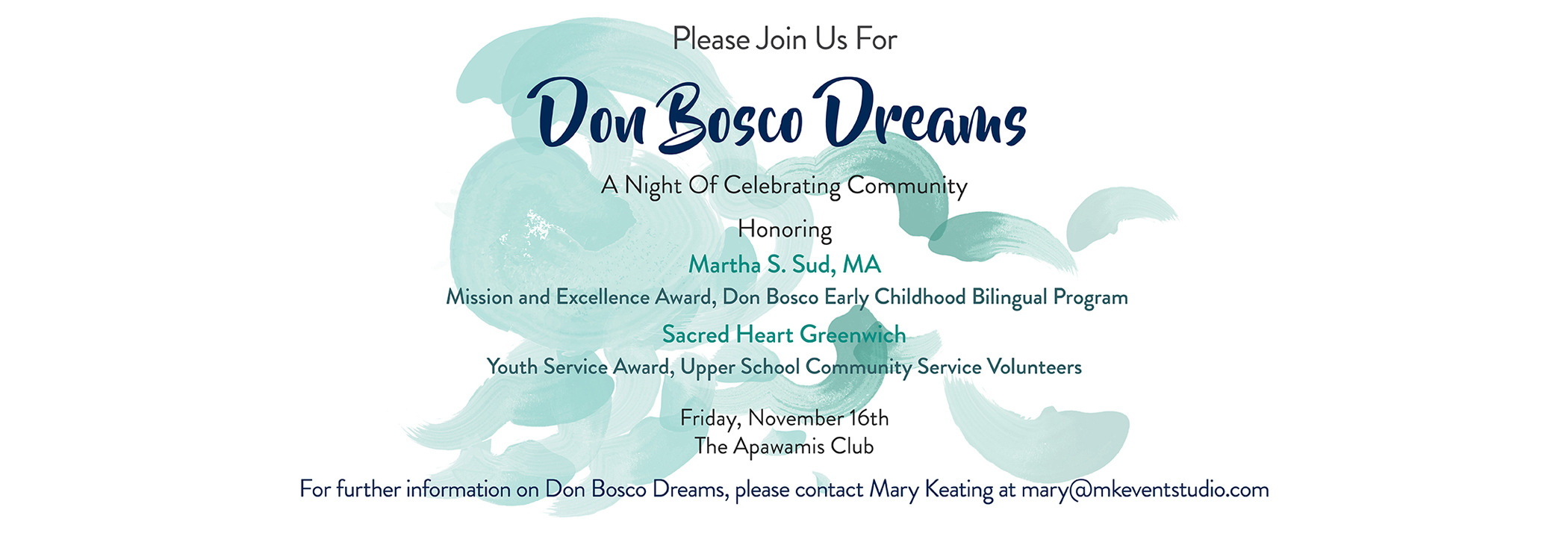 Join Us for Don Bosco Dreams 2018