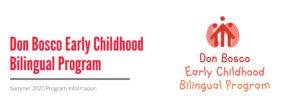 Early Childhood Bilingual Summer Program 2020