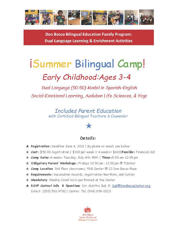 ¡Summer Bilingual Camp!