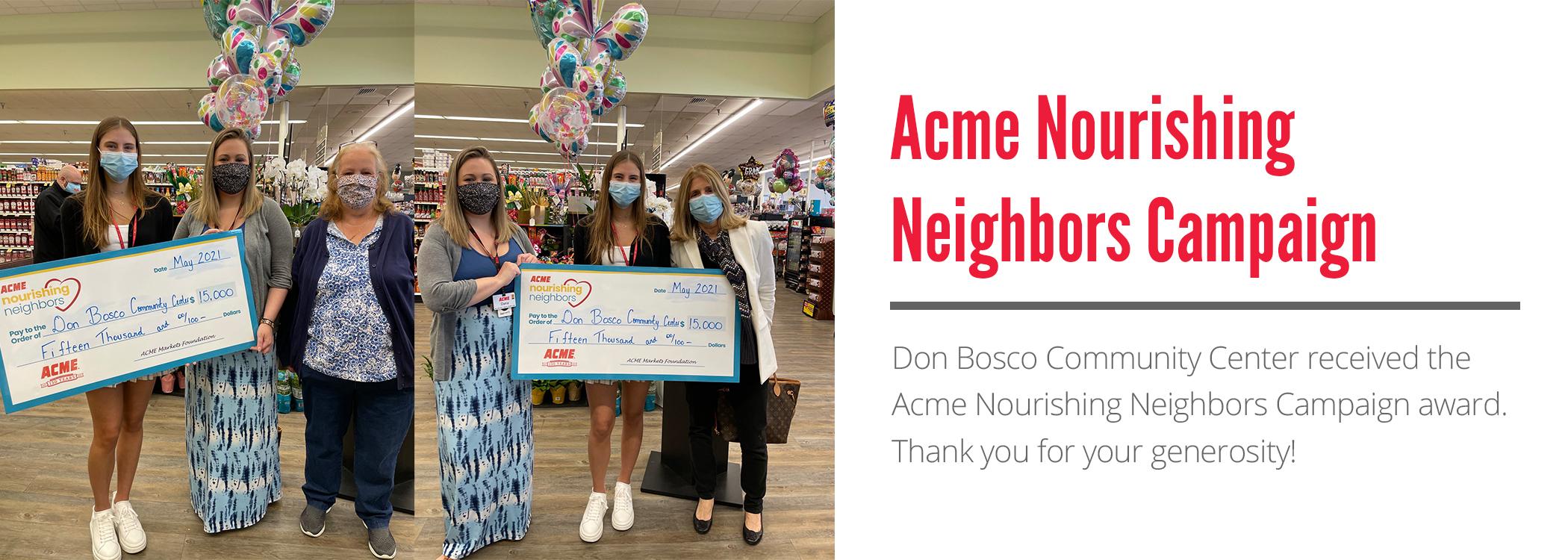 Acme Nourishing Neighbors Campaign Awarded to Don Bosco Community Center